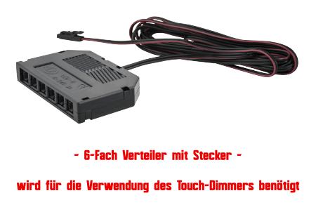 JungesLicht-AMP-Verteiler-Moebelleuchte-LED-Tim-Warmweiss-Stecker-12Volt-Leuchte-Leuchtmittel-Lampe