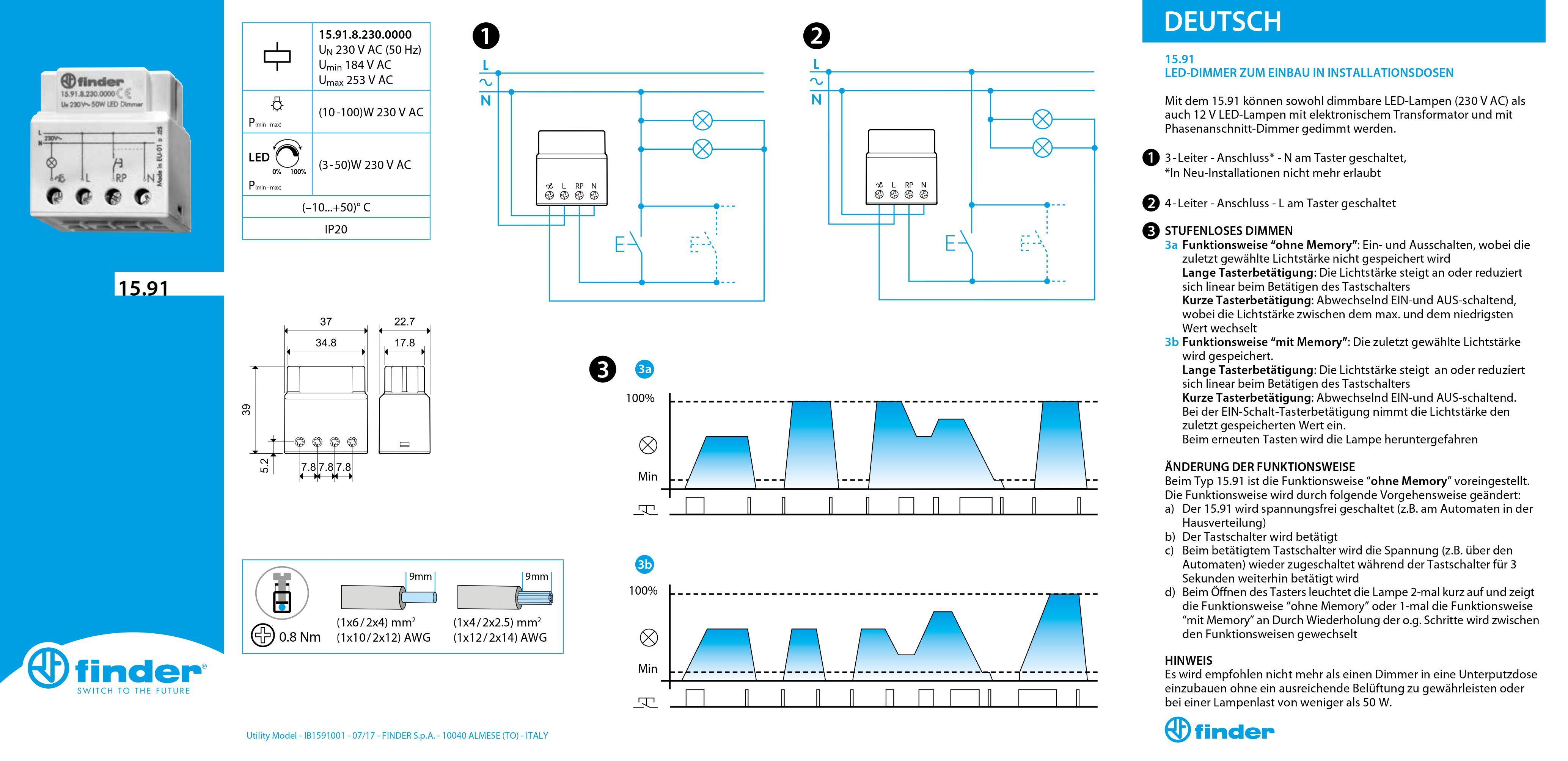 Finder-LED-Dimmer-Anleitung